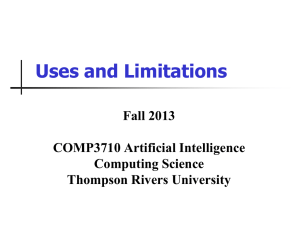 2. Uses and Limitations - Computing Science