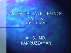 ARTIFICIAL INTELLIGENCE & APPLICATIONS