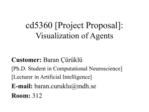 Project in cd5360: Visualization of software agents