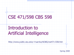 CSE 471/598 Introduction to AI