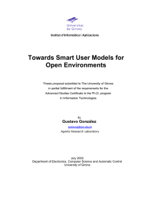 Towards Smart User Models for Open Environments