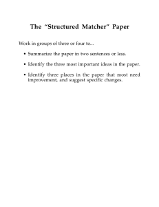 "The ""Structured Matcher"" Paper"
