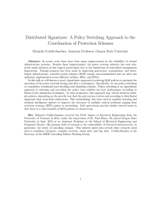 Distributed Signatures: A Policy Switching Approach to the