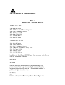 Mobile Robot Exhibition Schedule