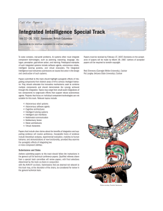 Integrated Intelligence Special Track Call for Papers