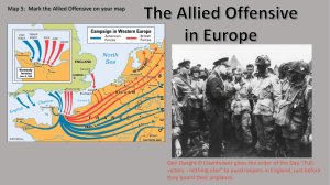 The Allied Offensive in Europe
