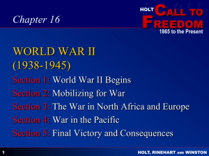 Chapter 25 WORLD WAR II (1938