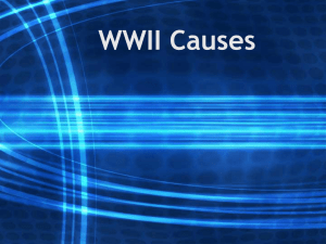 WWII Causes - World history