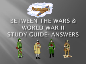 Between the Wars & World War II Study Guide