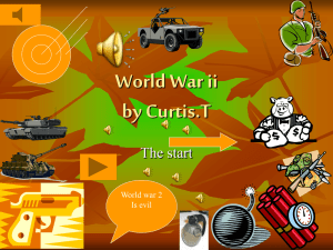 World War ll by Curtis.T