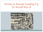 Events in Europe Leading Up To World War II