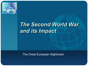The Coming of the Second World War
