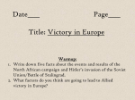 Date____ Page____ Title: Victory in Europe