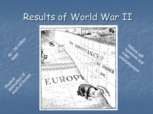 WWII Lesson 6 - Outcomes of World War II