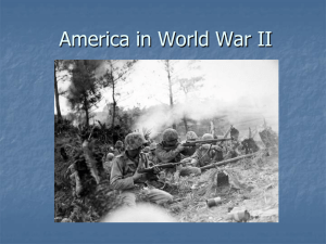America in World War II - Johnston County Schools