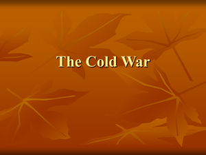 The Cold War - Schoolwires