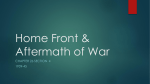 Chapter 26 Section 4 - Home Front _ Aftermath of War