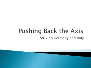 Pushing Back the Axis - CEC American History