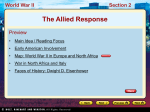 The Allied Response World War II Section 2