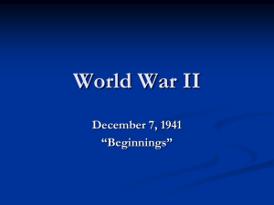 World War II December 7, 1941