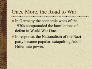 Once More, the Road to War