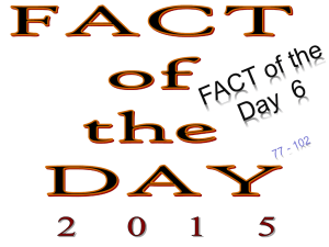 Facts of the Day 6. 77
