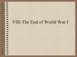 End of WWI. Origins of WWII.