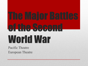 World War II: Pacific & European Theaters