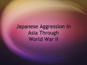 Japanese Aggression In Asia Pre World War II