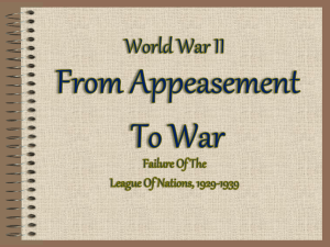 From Appeasement to War 16sect 1