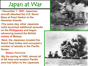 Japan at War - Chandler Unified School District