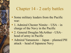 Chapter 14 - 2 early battles