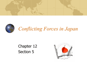 Conflicting Forces in Japan