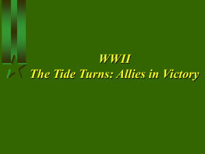 WWII the Tide Turns