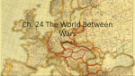 Ch. 24 Between the Wars