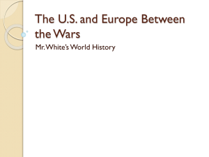 The United States and Europe Between the Wars