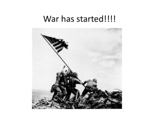 War has started!!!!