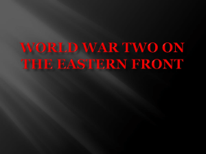 World War Two on the eastern front