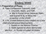 Ending WWII