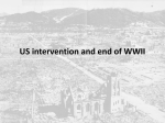 US intervention and end of WWII