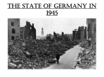 The state of Germany in 1945 - Watford Grammar School for Boys
