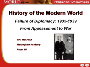 From Appeasement to War-Failure of Diplomacy st.ed