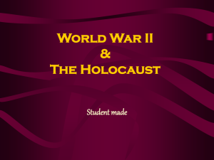 World War II & The Holocaust Student made