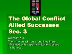 The Global Conflict Allied Successes Sec. 3