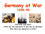 Germany at War - Lagan History Zone