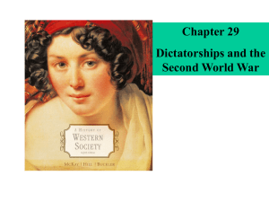 Dictatorships and the Second World War