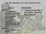World War Two Unit 2013-2014 - Lesson 2