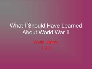World H - WWII Need to Know - HFAWorldHistory-Kos