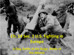 Ch. 14 Sec. 1 US Fighting in Europe