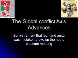 The Global conflict Axis Advances